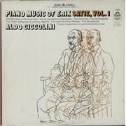 Aldo Ciccolini Piano Music Of Erik Satie, Vol. 1 USA vinyl LP
