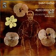 Aldo Ciccolini Saint-Saëns: Piano Concerto No. 1 & Piano Concerto No. 3 UK vinyl LP