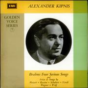 Click here for more info about 'Alexander Kipnis - Golden Voice Series No. 7 - Test Pressing'