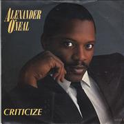 Click here for more info about 'Alexander O'Neal - Criticize'
