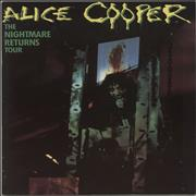 Click here for more info about 'Alice Cooper - The Nightmare Returns Tour + Ticket Stub'