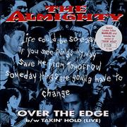 Click here for more info about 'The Almighty - Over The Edge - Orange Marbled Vinyl'