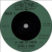Click here for more info about 'Althia & Donna - Up Town Top Ranking - Injection'