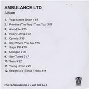 Click here for more info about 'Ambulance Ltd - Ambulance Ltd + PR'
