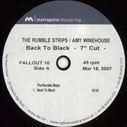 Amy Winehouse Back To Black - The Rumble Strips Remix UK acetate