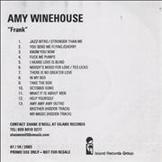 Click here for more info about 'Amy Winehouse - Frank'