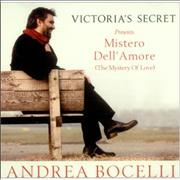 Andrea Bocelli Mistero Dell' Amore USA CD album