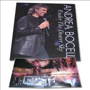 Andrea Bocelli Under The Desert Sky USA press pack Promo