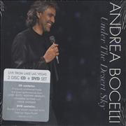 Andrea Bocelli Under The Desert Sky USA 2-disc CD/DVD set