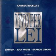 Andrea Bocelli Vivo Per Lei Italy CD single