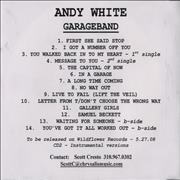 Click here for more info about 'Andy White  - Garageband + Instrumental'