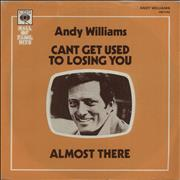 Click here for more info about 'Andy Williams - Can't Get Used To Losing You - P/S'