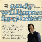 Click here for more info about 'Andy Williams - Favourites Vol. 1 EP - P/S'