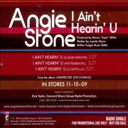 Click here for more info about 'Angie Stone - I Ain't Hearin' You'