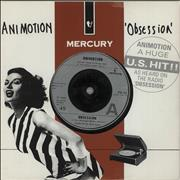 Click here for more info about 'Animotion - Obsession - Die-cut picture sleeve'