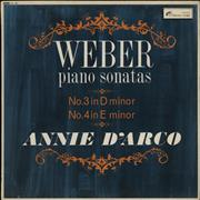 Click here for more info about 'Annie D'Arco - Weber: Piano Sonata No. 3 in D Minor / Piano Sonata No. 4 in E Minor'