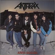 Click here for more info about 'Anthrax - Anti-Social - Amber Vinyl'