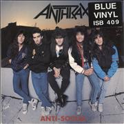 Click here for more info about 'Anthrax - Anti-Social - Blue Vinyl'