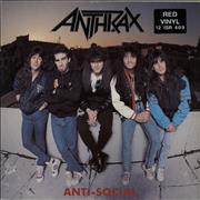 Click here for more info about 'Anthrax - Anti-Social - Red Vinyl'