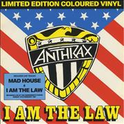 Click here for more info about 'Anthrax - I Am The Law - Red vinyl'