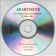 Click here for more info about 'Apartment - Everyone Says I'm Paranoid'