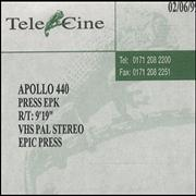 Click here for more info about 'Apollo 440 - Press Epk'