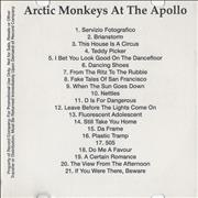 Click here for more info about 'Arctic Monkeys - At The Apollo'