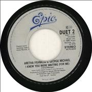 "Aretha Franklin I Knew You Were Waiting (For Me) UK 7"" vinyl"