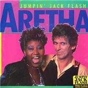 "Keith Richards Jumpin' Jack Flash - Clear vinyl USA 7"" vinyl"