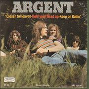 Click here for more info about 'Argent - Hold Your Head Up - P/s'