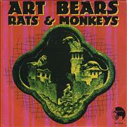 """Art Bears Rats & Monkeys USA 7"""" vinyl"""