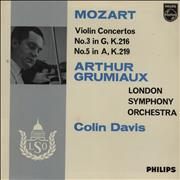 Click here for more info about 'Arthur Grumiaux - Mozart: Violin Concerto No. 3 In G Major & No. 5 In A Major'