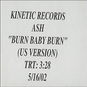 Click here for more info about 'Burn Baby Burn - US Version'