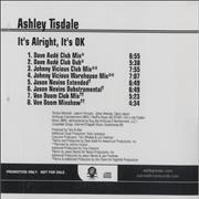 Click here for more info about 'Ashley Tisdale - It's Alright, It's Ok'