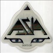 Click here for more info about 'Asia - Don't Cry - Green logo'