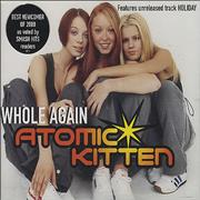 Atomic Kitten Whole Again UK CD single