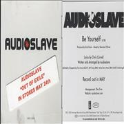 Click here for more info about 'Audioslave - Be Yourself - picture sleeve + sticker'