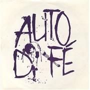 """Auto Da Fe November November UK 7"""" vinyl"""