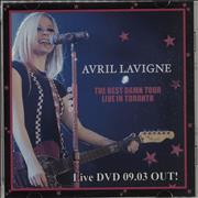 Avril Lavigne The Best Damn Tour Live In Toronto Japan promo DVD-R Promo