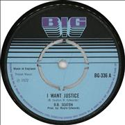 Click here for more info about 'B.B. Seaton - I Want Justice / Justice (Version)'