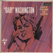 Click here for more info about 'Baby Washington - Only Those In Love'