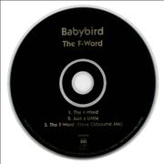 Click here for more info about 'Babybird - The F-Word'