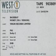 Click here for more info about 'Backbeat - Money - Vh1 Version - Betacam Master'