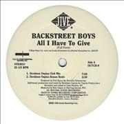 Click here for more info about 'Backstreet Boys - All I Have To Give - Double Pack'