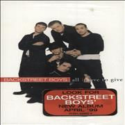 Click here for more info about 'Backstreet Boys - All I Have To Give'