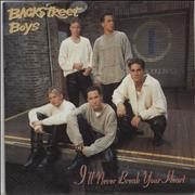 Backstreet Boys I'll Never Break Your Heart Germany CD single