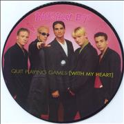 """Backstreet Boys Quit Playing Games UK 7"""" picture disc"""