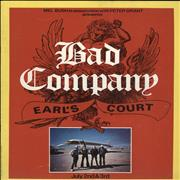 Bad Company Earl's Court UK tour programme