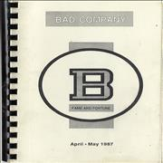 Click here for more info about 'Bad Company - Fame And Fortune - April - June 1987'