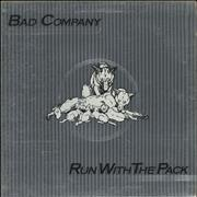 Bad Company Run With The Pack - Silver Label UK vinyl LP